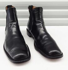 LOAKE CROMWELL BLACK LEATHER CHELSEA BOOTS Made in England Mens sz UK 11 = US 12