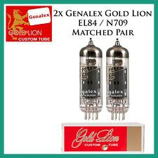 New 2x Genalex Gold Lion EL84 / N709 | Matched Pair / Duet / Two Tubes