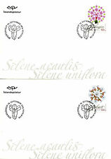 Iceland 2016 FDC Wild Icelandic Vegetation 2v on 2 Covers Campion Flowers Stamps