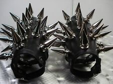 LEATHER GIANT SPIKE GAUNTLET'S... BLACK DEATH.....(MDLG0204)..... GOATWHORE'S