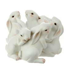"Raz Imports  Rabbit circle of bunnies spring Easter 3609288 9.5"" adorable"