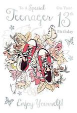 For A Special Teenager On Your 13th Birthday Trainers Design Happy Birthday Card