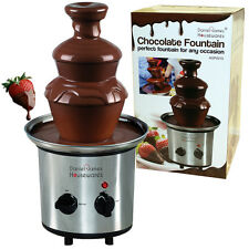 CHOCOLATE FOUNTAIN WARMER DESSERT STAINLESS STEEL ELECTRIC FESTIVE PARTY GIFT