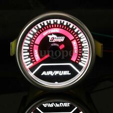 "Pointer 2"" 52mm LED Air Fuel Ratio Gauge Kit Car Motor Meter Smoke Tint Len Dial"