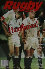 NZ RUGBY NEWS 29-15, 11 Jun 1998 Matt Cooper,Tonga, Frank Bunce