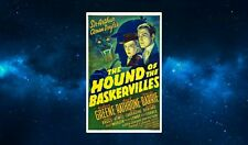 Sherlock Holmes Fridge Magnet.NEW Hound of the Baskervilles. Retro Poster Art
