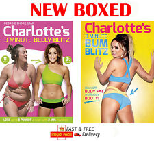 CHARLOTTE CROSBY'S 3 MINUTE BELLY & BUM BLITZ DVD FITNESS WORKOUT NEW BOXED