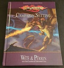 D&D 3.5 2003 DRAGONLANCE CAMPAIGN SETTING Dungeons & Dragons D20 HC WTC86990 NEW