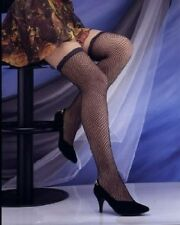 Lingerie-Sexy Fishnet Thigh-High Stockings-Black(OS)