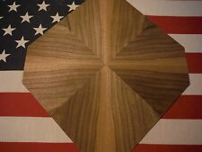 """CROSS OF THE ADIRONDACKS""~ COOL BLACK WALNUT *SUNBURST* veneer kit, lot 592G"