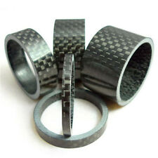 "Carbon Fiber 3/5/10/15/20mm Spacer 1 1/8"" For Stem Bike Bicycle Headset Washer W"