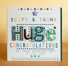 Personalised Male Congratulations special card. Congrats Engagement Wedding Job