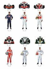 12 FORMULA 1 DRIVERS AND CARS CUPCAKE/FAIRY CAKE TOPPERS **STAND UPS**