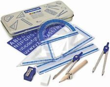 STAEDTLER Set di matematica geometria Righello Squadra Goniometro scuola Set in regalo TIN