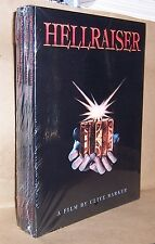 Clive Barker HELLRAISER: A Film Screenplay Illustrated Four Shrinkwrapped Copies