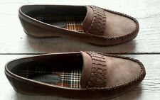 Hush Puppies Brown Suede Slip-on Mocs Flats/Casual Shoes 52375 Women's Size 11 W