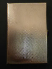 LAGRE ENGINE TURNED SILVER CIGARETTE CASE, 1938
