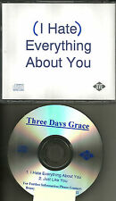 THREE DAYS GRACE I hate Everything about you / Just like PROMO DJ CD single 2003