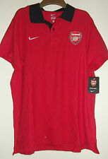 BNWT Arsenal Football Club Nike Retro Polo Shirt Size Large Red