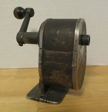 Antique Desk Mount Pencil Sharpener Cast Iron Wood Handle WORKING!