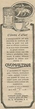 W1310 OVOMALTINA - L'uomo d'affari... - Pubblicità 1926 - Vintage Advert