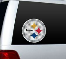 "BIG 12"" PITTSBURGH STEELERS CAR HOME PERFORATED WINDOW FILM DECAL NFL FOOTBALL 1"