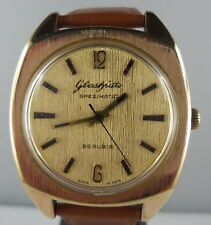 "F08⭐⭐ Vintage "" Glashütte "" Spezimatic automatic men's watch Leather wrist band"