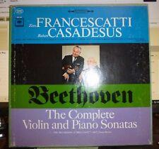 BEETHOVEN Violin & Piano Sonatas 4 LP NM/VG+ Stereo 2 Eye FRANCESCATTI CASADESUS