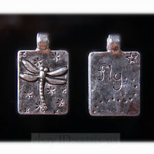 10pcs 24mm Charms Fly Dragonfly Tibetan Silver Pendant Connector Jewelry A7719
