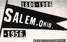 Ohio Postcard '56 SALEM Real Photo RPPC Pennant QSL Radio Card Sesquincentennial