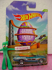 2014 Happy EASTER #2 Hot Wheels '70 CHEVY CHEVELLE ✿Teal✿Egg~Walmart Exclusive