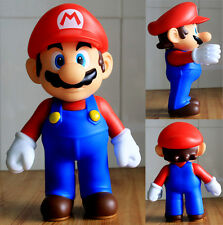"""Super Mario Bros 9"""" Big Size Red Mario Poseable Action Figures Baby Toy Gift New"""