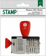 American Crafts Roller Date Stamp *CHRISTMAS *NOEL *NAVIDAD Phrases, Date ~59221