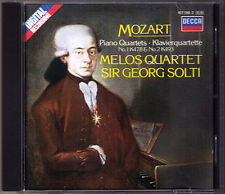 Georg Solti & Melos quartetto: Mozart Piano Quartet No. 1 & 2 pianoforte Quartette CD