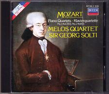 Georg Solti & Melos quartetto: Mozart Piano Quartet No. 1 & 2 pianoforte Quartette CD