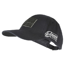 VOODOO TACTICAL BLACK Operator Contractor CAP Hat With USA FLAG Ships in Box