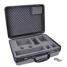 Protective Hard Plastic Carrying Case w/Key Locks, Foam Padding