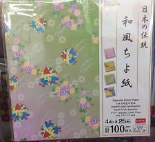 "DAISO JAPAN 100 sheets Japanese Traditional craft paper ""Chiyogami"" ""Origami"" #2"