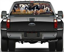 Cows On Pasture Rear Window Graphic Decal Truck SUV Van Car
