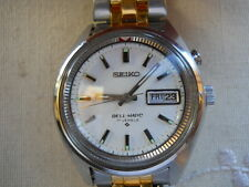 RARE 1968 SEIKO BELL-MATIC ALARM, 17 JEWEL,AUTO,LARGE & HEAVY ALL SS, SERVICED!
