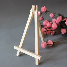 10x Mini Wooden Cafe Table Number Easel Wedding Place Name Card Holder Stand #01