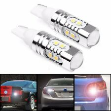 2PCS T10 50W 6000k Super White 921 Brake Reverse LED Lights Projector Lens Bulbs