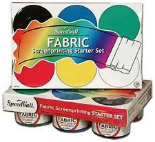 Speedball Screen Printing Textile Ink Starter Set - 6 x 4oz Jars - for fabrics