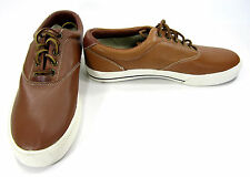 Polo Ralph Lauren Shoes Vaughn Athletic Leather Brown Sneakers Size 10