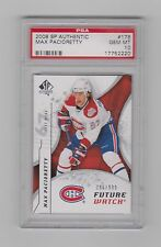 2008-09 SP AUTHENTIC FUTURE WATCH RC  # 178  MAX PACIORETTY /999  PSA 10