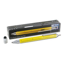 Monteverde One Touch 9-in-1 Stylus Tool Contractor Ball Point Pen, Yellow