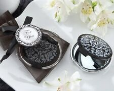 24 Black Damask Mirrors Bridal Shower Favors Wedding Bridesmaid Gift Lot Q31407