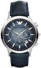 NEW EMPORIO ARMANI AR2473 MENS NAVY BLUE CHRONOGRAPH WATCH - 2 YEAR WARRANTY