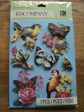 K & CO BLOOMSCAPE BUTTERFLY GRAND ADHESIONS STICKERS BNIP