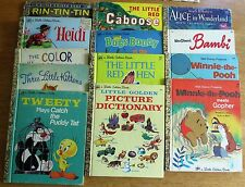 LITTLE GOLDEN BOOKS, LOT OF 13, SOME HARD TO FIND TITLES. (MOGG).